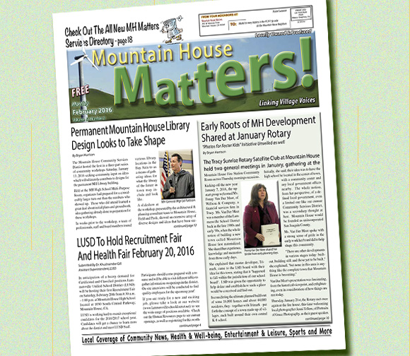 February 2016 Mountain House Matters