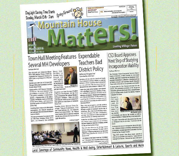 March 2016 Mountain House Matters