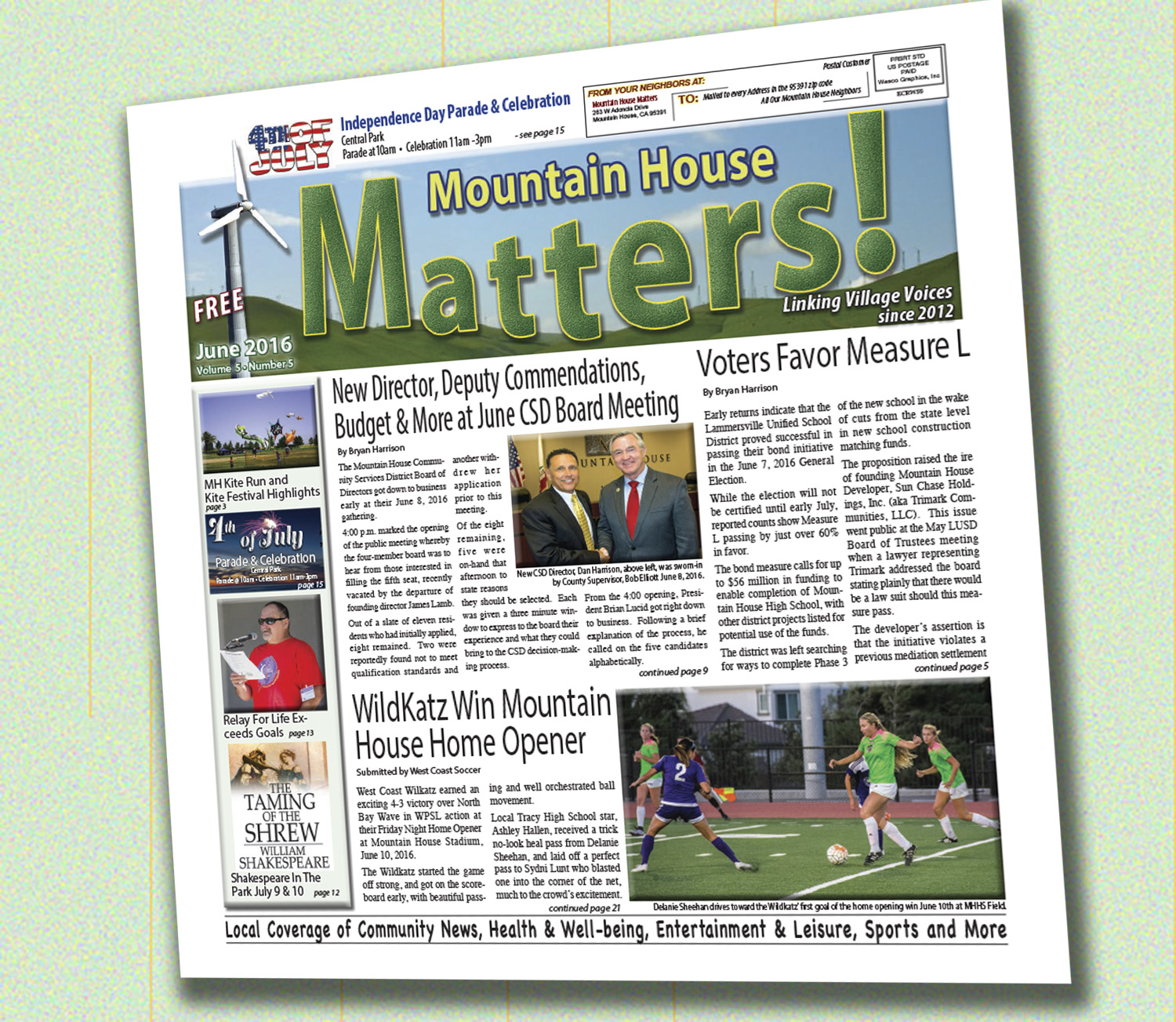 June 2016 Mountain House Matters